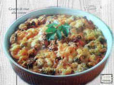 Gratin di riso e cozze, un primo piatto  facile, gustoso e adatto ad ogni occasione