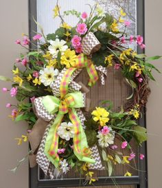 """""""SPRING GARDEN"""" - XXL Chic Spring / Summer / Mother's Day Floral Wreath by DecorClassicFlorals, $ 149.95 on Etsy"""