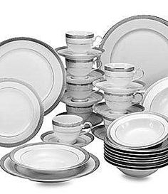 Mikasa Platinum Crown China 40Piece Set #Dillards