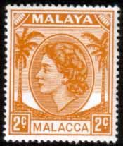 Malay State of Malacca 1954 Queen Elizabth II Head SG 24 Fine Used Scott 30 Other Malacca Stamps HERE
