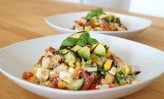 Kalter Sommer-Couscous-Minze-Salat #salad #mint #couscou #recipe #summer
