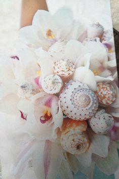 Sea Shell Wedding Bouquet