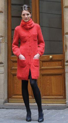 Оксфорд пальто шерстяное, малыш мохер> Пальто> Женщины> Laines Annyblatt