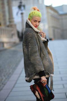 that Acne number rocks. #MarianneTheodorsen in Oslo. #StyleDevil