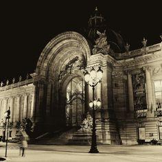 """Le """"Petit Palais"""" de nuit - Le Petit Palais est un monument historique de Paris, aujourd'hui utilisé comme musée des beaux-arts, qui fut construit à l'occasion de l'Exposition universelle de 1900 par l'architecte Charles Girault. Il est situé dans le 8e arrondissement, avenue Winston-Churchill, face au Grand Palais."""