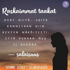 Se kaikista aurinkoisinkin ihminen voi olla sisältä palasina – ja molemmat puolet ovat yhtä totta Text Quotes, Wise Quotes, Motivational Quotes, Inspirational Quotes, Thoughts And Feelings, Happy Thoughts, Life Lyrics, Think, More Words