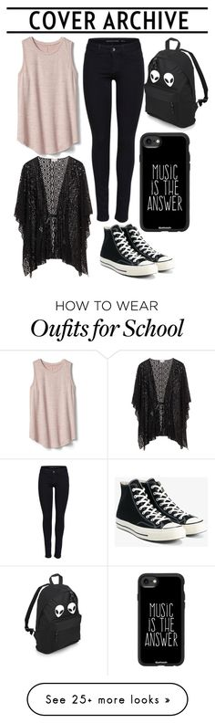 """""""Casual Look by Paulla elise Cosiello Luiz"""" by pecturner on Polyvore featuring Gap, Converse and Casetify"""