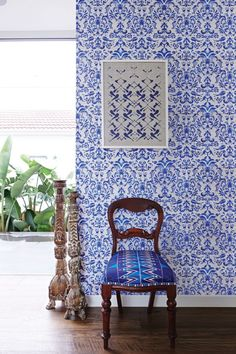 Damask Ming wallpaper