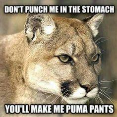 Puma my pants......hilarious