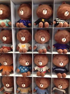 Line Friends Store South Korea Cony Brown, Brown Bear, Kakao Friends, Cute Love Stories, We Bare Bears, Cute Teddy Bears, Line Friends, Cute Plush, Cute Toys