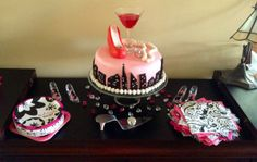 Sex in the City themed bridal shower party cake