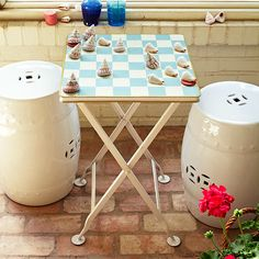 Wisteria - Furniture - Shop by Category - Accent Tables & Pedestals - Checkers Game Table