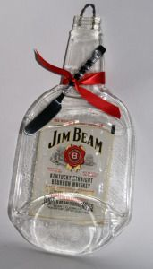 Jim Beam Cheese Platter  Sally Kennedy  This functional art piece is ideal for serving cheese and crackers, fruit or bread.  It can also be used as a butter dish or spoon rest. A wire hook has been fused into the neck of the bottle to create a decorative piece of wall art. #gift #home #platter #decor #glass #art  On Artful Vision, a portion of your purchase is donated to a participating non-profit of your choice.
