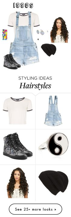 """""""1990s"""" by hanakdudley on Polyvore featuring Topshop, H&M, Hogan Rebel, Accessorize, Full Tilt and Phase 3"""