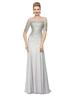 Bridess Women's Chiffon Sequin Mother of the Bride Evening Dress with Sleeve 10 Bridess http://smile.amazon.com/dp/B019QE657C/ref=cm_sw_r_pi_dp_T-4.wb1CZQE65