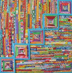 Rainbow Quilt 23x23 polymer clay by Angela Barenholtz  | Flickr - Photo Sharing!