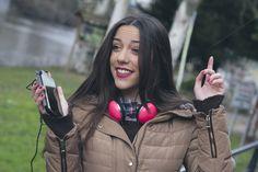 girl listening to music by pruden.alvarez on Creative Market