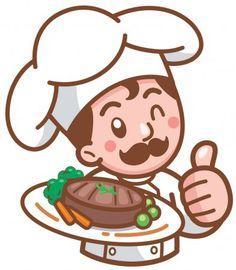 En la misma serie con 252461010 Cartoon Chef, Logo Food, Pictures Images, Art Logo, Vector Free, Hello Kitty, Logo Design, Presents, Clip Art