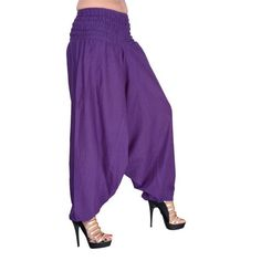 c988468bc2d PURPLE COLOR harem pants Yoga Legging Thai Long Jumpsuit Harem pants