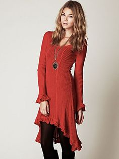 Waterfalls Sweater Dress