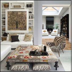 Light Grey base with texture, pattern and objects creating comfort and warmth.
