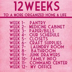 Week 4- Our Schedule - The Hankful House