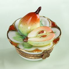 Limoges pears plate box