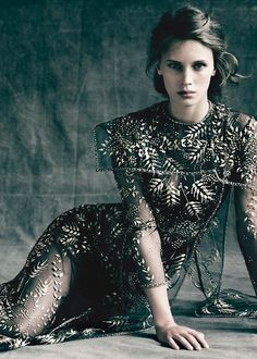 vacthdaily:  New outtake from Marine's Vanity Fair shoot by Paolo Roversi, 2013.