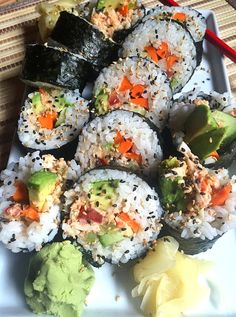 Visit the post for more. Vegan Crab, Vegan Sushi, Sushi Sushi, California Roll Sushi, California Rolls, Sushi Recipes, Vegan Recipes, Dessert Sushi, Gourmet Desserts