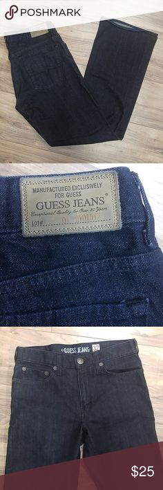 """NWOT Guess """"the Cliff"""" Boot Cut dark wash jeans 32"""" waist 33"""" inseam. New without tags. Dark wash boot cut. Guess Jeans Boot Cut"""