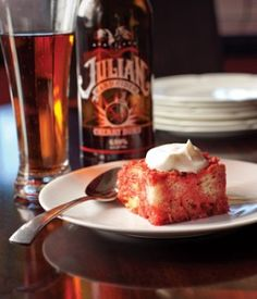 Cherry Beer & Donut Bread Pudding recipe by Tom Ramsey - you could use Friek!