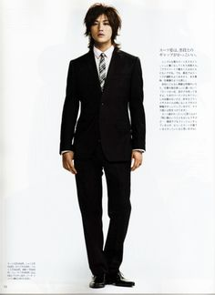 Jin Akanishi, or whoever he is. I never think such hair will match so good with the suit.