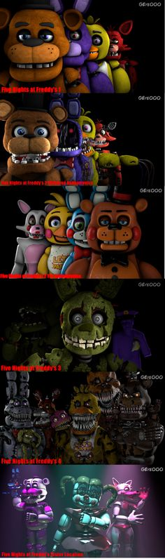 Five Nights at Freddy's Series by GoldenEye000 on DeviantArt
