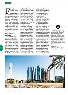 from International Finance Magazine Apr - Jun 2015 Soho Loft, United Arab Emirates, Middle East, Jun, New York Skyline, Finance, Two By Two, Magazine, Group