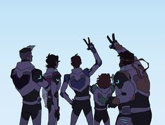 """Lance, Hunk, and Pidge/Katie        Are so happy to be back and Shiro is all calm and I bet Keith is like """"OMG IM BACK! BUT I HAVE TO STAY CALM IN FRONT OF SHIRO!!"""""""