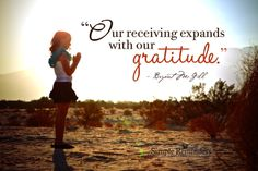 Our Receiving Expands with our Gratitude.