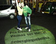 PROJETO LEVA PARA AS RUAS DE SÃO PAULO ENERGIA EM FORMA DE MENSAGENS DOS TORCEDORES PARA A SELEÇÃO BRASILEIRA... Inteligente e oportuno!    .