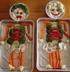 Veggie Tray Skeletons
