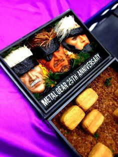 Ultimate homemade bento containing food decorated to look like MGS, via Flickr.