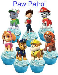 28 Paw Patrol Cupcake Toppers By Iamsoxhy On