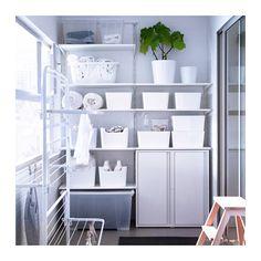"""JOSEF Cabinet, indoor/outdoor - white - IKEA Width: 15 3/4 """" Depth: 13 3/4 """" Height: 33 7/8 """""""