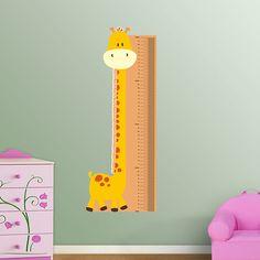 Giraffe Growth Chart REAL.BIG. Fathead – Peel & Stick Wall Graphic | Giraffe Wall Decal | Growth Chart for Nursery | Animal Decor