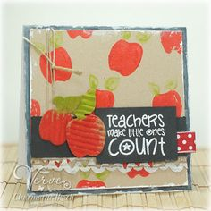 Teacher Appreciation card by Charmaine Ikach using Verve Stamps.  #vervestamps