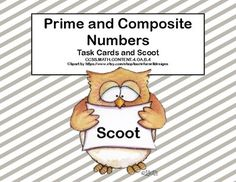 This product provides practice in classifying numbers as prime or composite. There are 40 task cards that can be used in scoot, math centers, or stations. Aligned with CCSS.MATH.CONTENT.4.OA.B.4