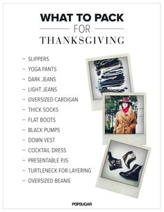 Your ultimate Thanksgiving packing list