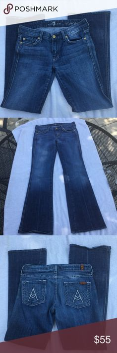 7 For All Mankind Jeans Size 26 7 For All Mankind Jeans Size 26. Great condition. Feel free to ask any questions :) 7 For All Mankind Jeans Flare & Wide Leg