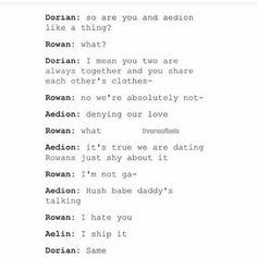 Aedion would totally do this to mess with everyone. (Especially Rowan)