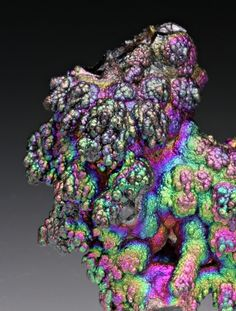 Rainbow colours are really blossoming and sunshiny =) Botryoidal, iridescent Goethite