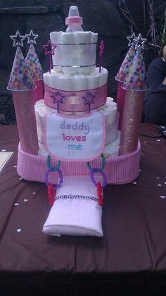 Princess diaper cake castle ♥