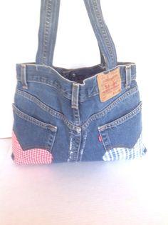 Levis Bag Purse Denim Jeans Hobo Heart Rustic Bohemian Designer Fashion Hip Chic #LEVIS #Hobo